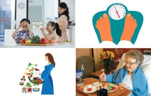 For Weight management, Child nutritional needs, Special Needs nutrition and Pregnancy diet read further